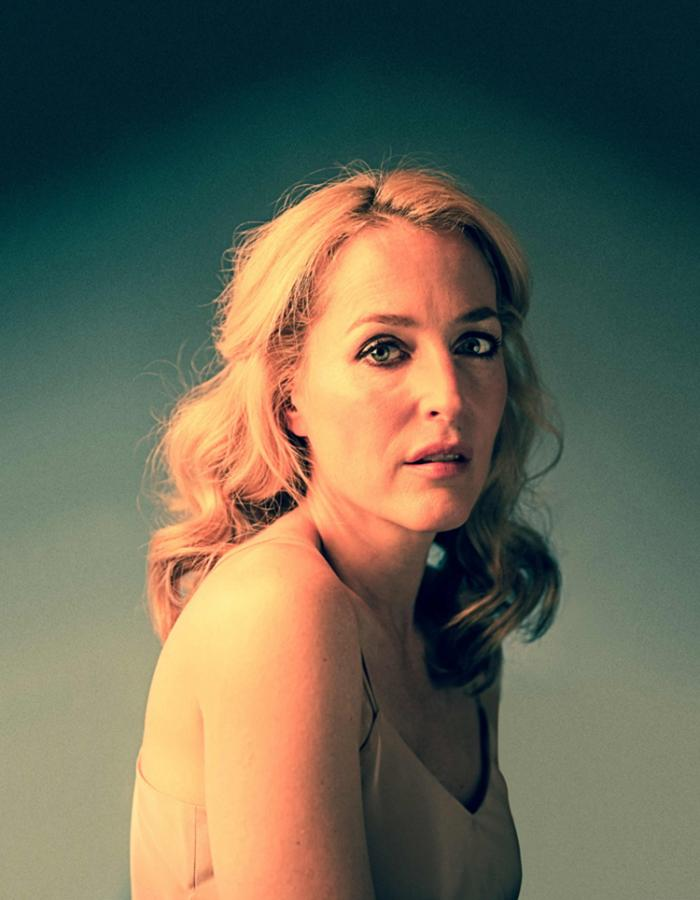 Portrait of Gillian Anderson as Blanche for Young Vic's A Streetcar Named Desire