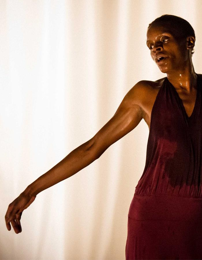 Okwui Okpokwasili in Bronx Gothic. Photo by Ian Douglas