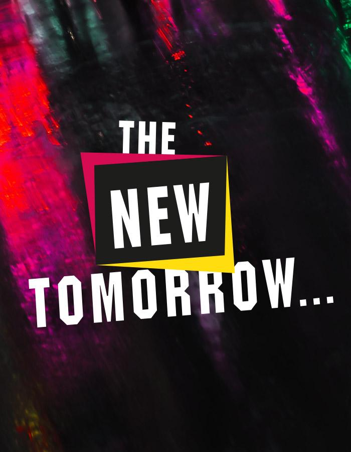 The New Tomorrow Title Treatment